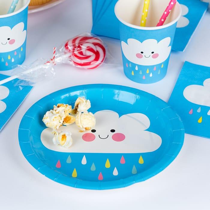 Happy Cloud Paper Plates (Set of 8)