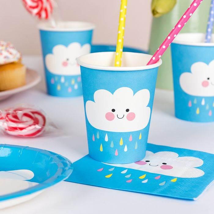 Happy Cloud Paper Cups (Set of 8)