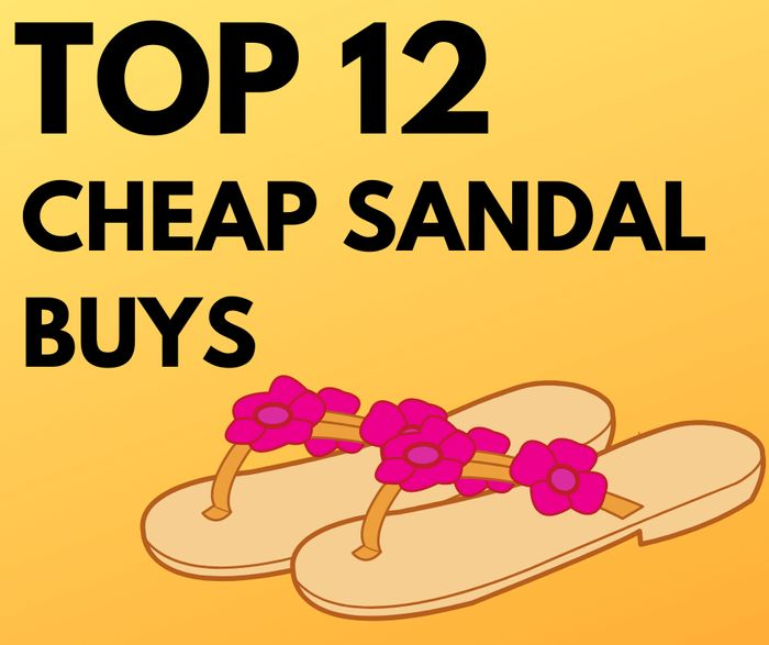 12 Cheap Women's Sandals Buys - From £4.99!