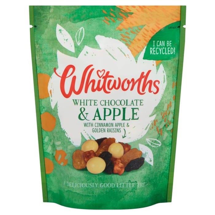 Whitworths White Chocolate/Apple with Cinnamon/Raisins 130g