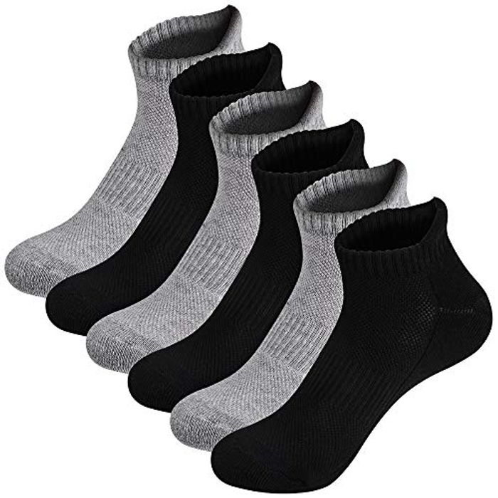 Ambielly Trainer Ankle Socks for Men and Women - Only £3.59!