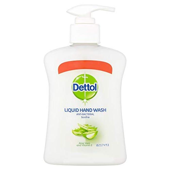 Dettol Antibacterial Wash Aloe Vera and Vitamin E, Multipack of 6 X 250 Ml