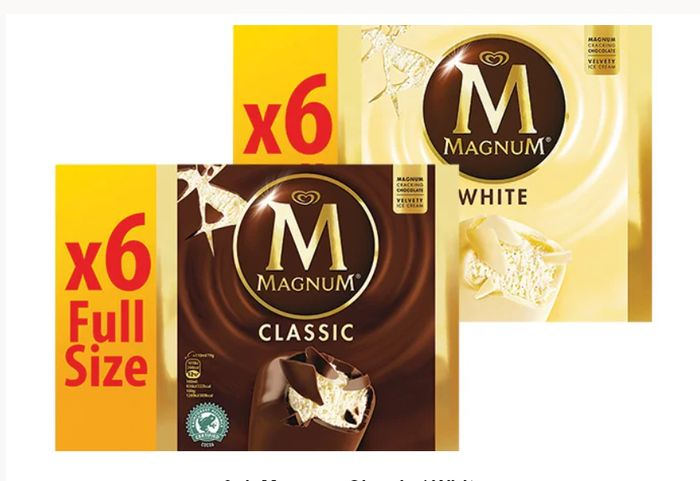 6pk Magnum Classic / White - Any Two for £4