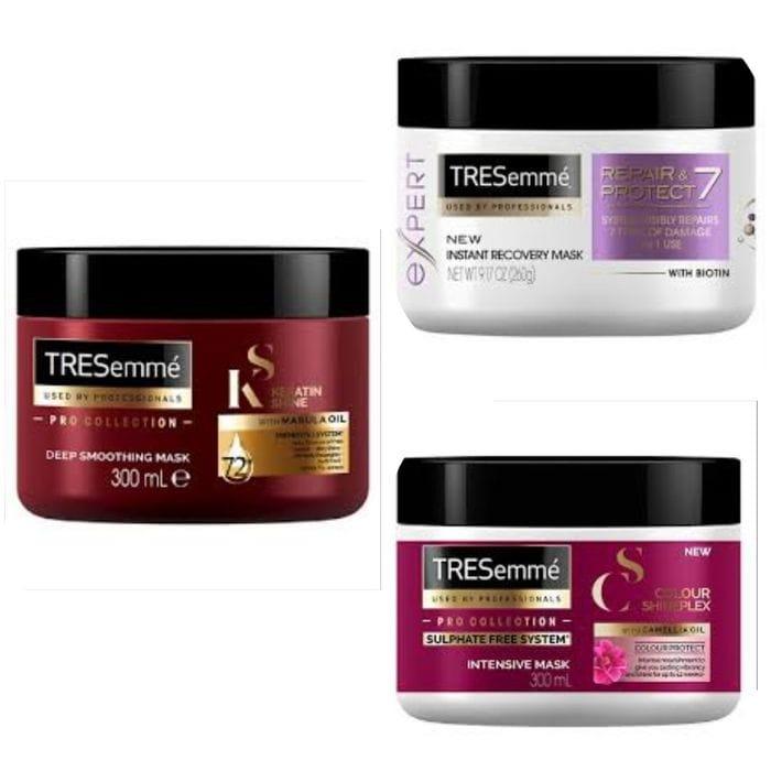 TRESeme Biotin+Repair Recovery/Keratin Smooth/Colour ShinePlex Hair Masks 300ml