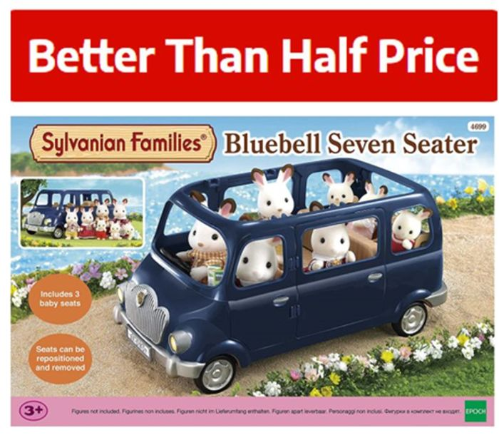 SAVE £16.48! Sylvanian Families - Bluebell Seven Seater Car (4699)
