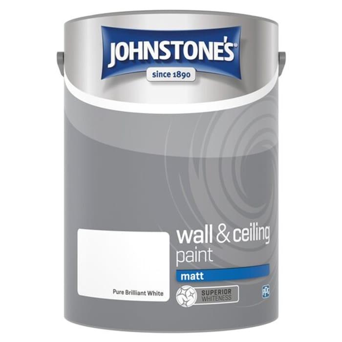 HALF PRICE - Johnstones White Silk / White Matt Emulsion 5L