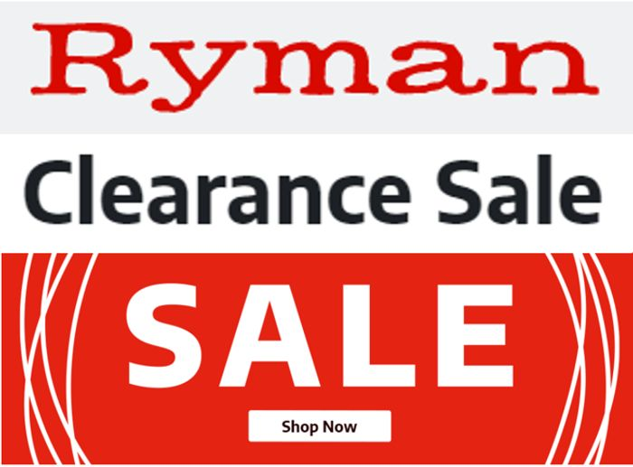 Ryman CLEARANCE SALE - up to 80% OFF