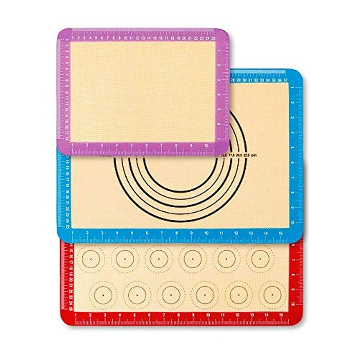 UOON Non Stick Reusable Silicone Baking Mat Sheet Set of 3 - Only £4.99!