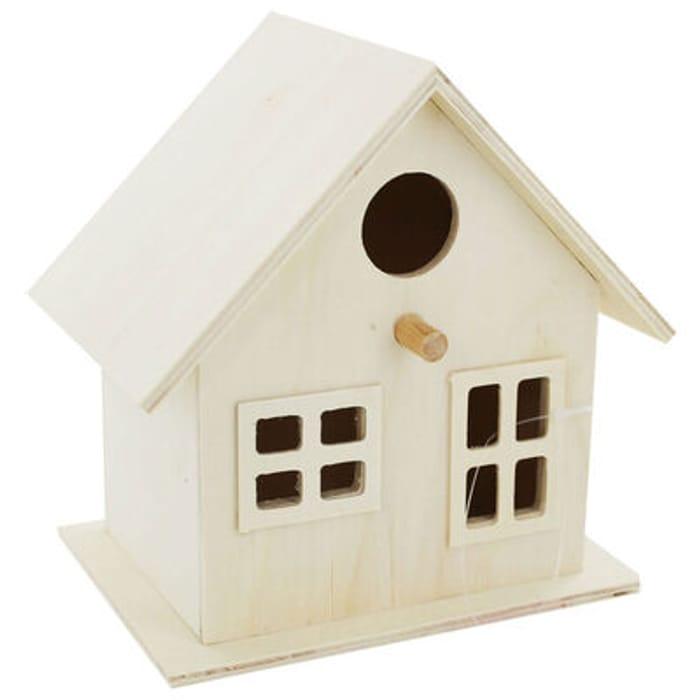 Wooden Birdhouse: 15 X 15.5 X 11 Cm