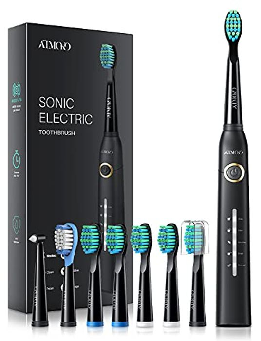 Sonic Toothbrush, ATMOKO Electric Toothbrush 40000VPM 8 Brush Heads 5 Modes
