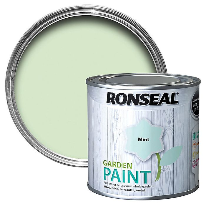 Ronseal Garden Mint Matt Metal & Wood Paint, 250ml