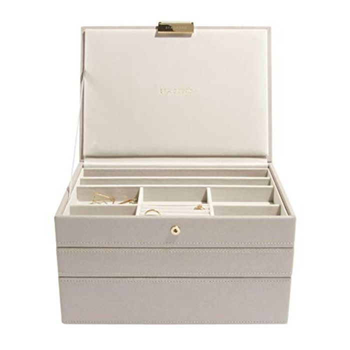 Stackers Taupe Classic Medium Jewellery Box, Set of 3