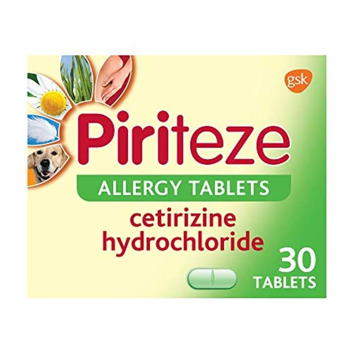 Piriteze Antihistamine Allergy Relief Tablets, Hay Fever Tablets - Pack of 30