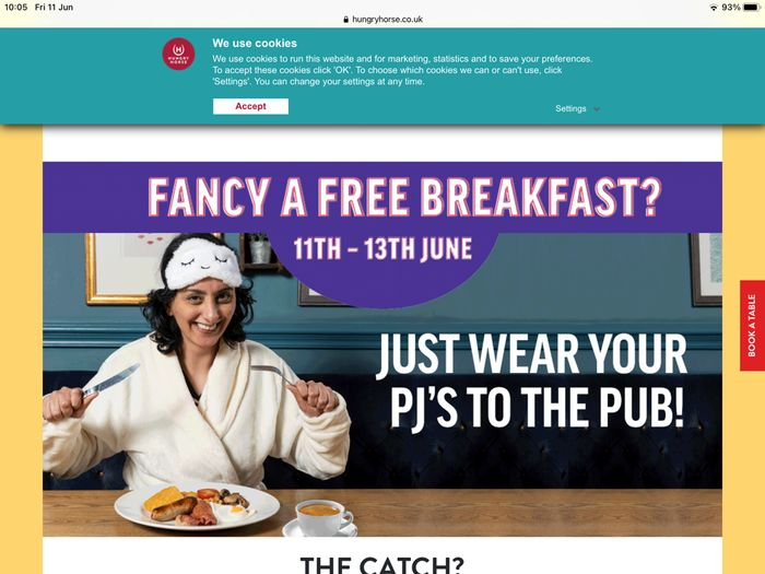 Free Hungry Horse Breakfast If You Wear Your PJ's