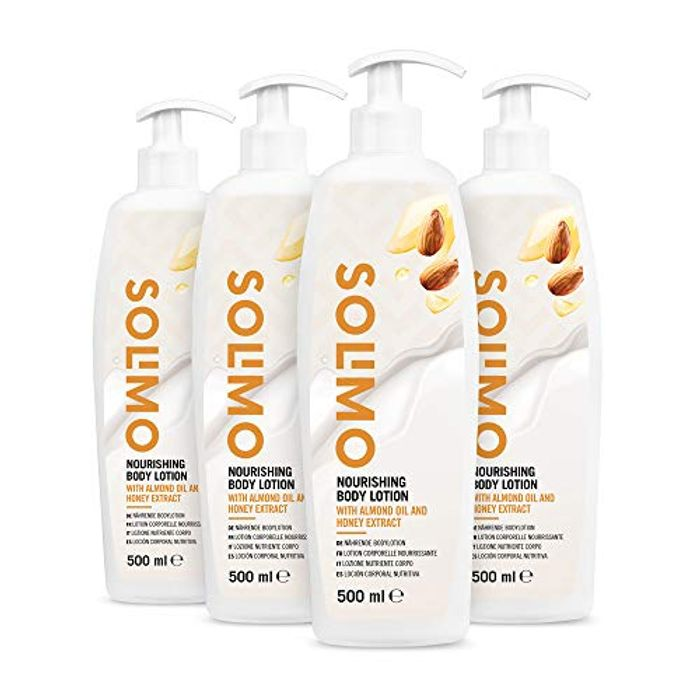 Solimo - Nourishing Body Lotion with Almond Oil and Honey Extract (4x500ml)