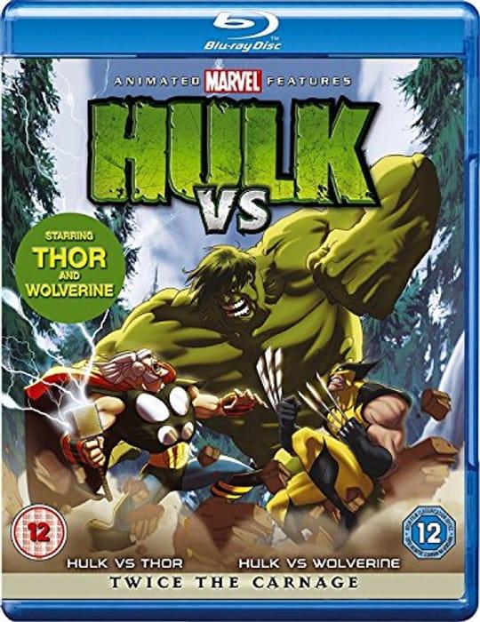 Hulk vs Thor/ Hulk vs Wolverine [Blu-Ray] [2017] £4.89 at Amazon