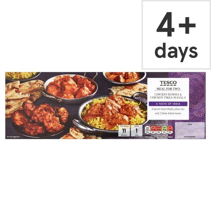 Easy Dinner: Tesco Chicken Korma & Chicken Tikka Masala Meal for 2