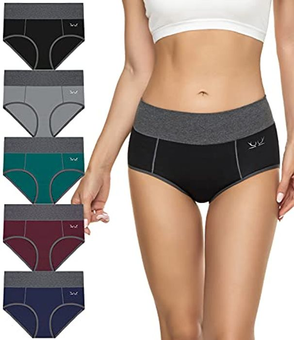 DEAL STACK - TANSTC Women's Cotton Briefs Soft Stretchy Underwear + 10% Coupon