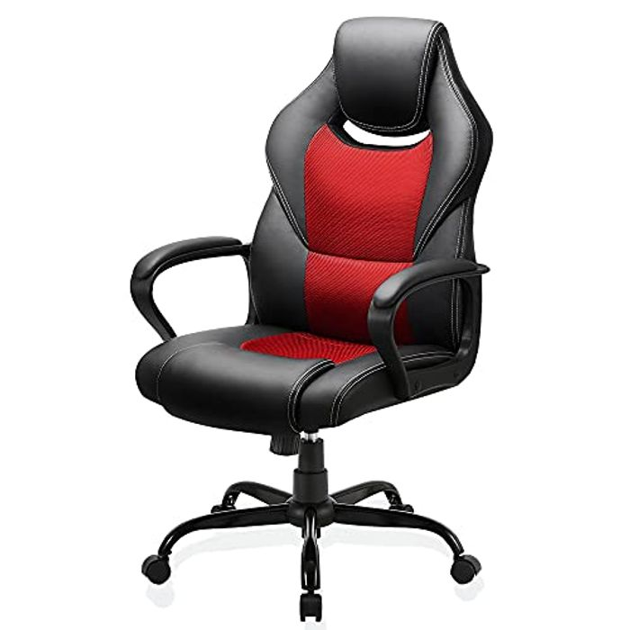DEAL STACK - BASETBL Office Desk Chair Racing Style Home Ergonomic + 30% Coupon