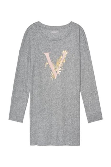 Victoria's Secret Cotton Long Scoop-Neck Sleepshirt