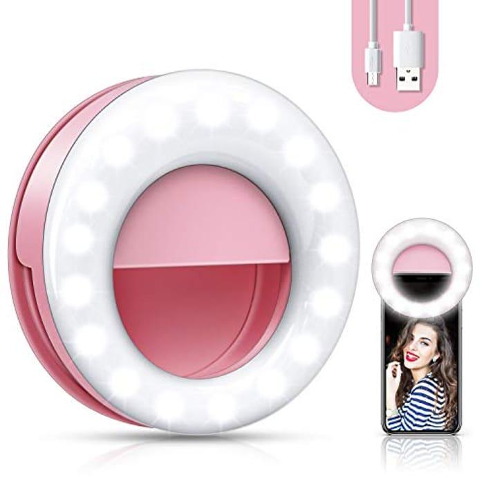 3 Level Adjustable Brightness Selfie Light - Only £4.4!