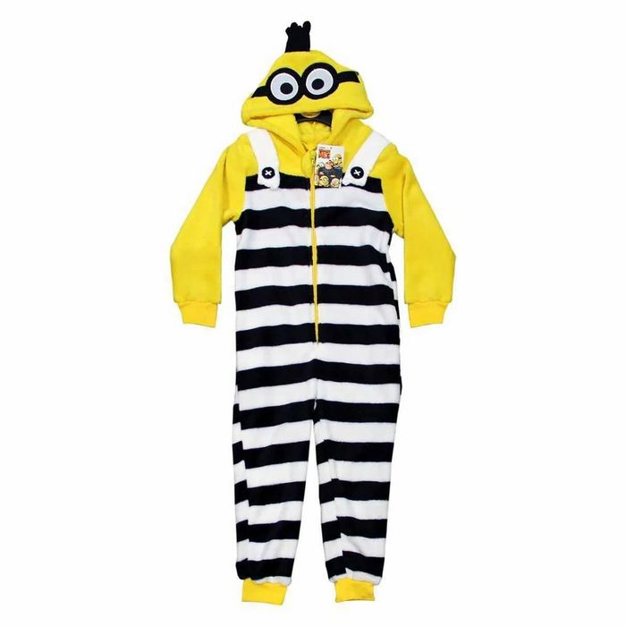 Despicable Me 3 Minions Convict All in One Kids Pyjama Suit
