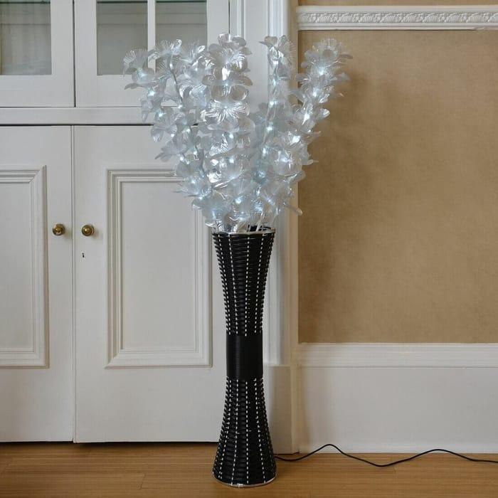 Stunning Fibre Optic Floor Standing Lamps in Black or White