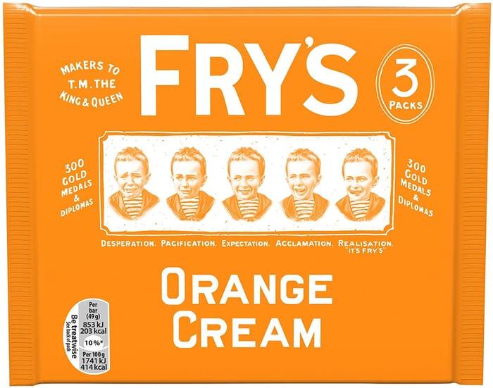 Fry's Orange Cream Chocolate Bar - 3 Bar Multipack 147g