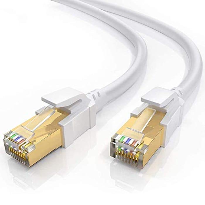 Cat8 Ethernet Cable 1m, BUSOHE Shielded RJ45 Lan Internet Network Cable