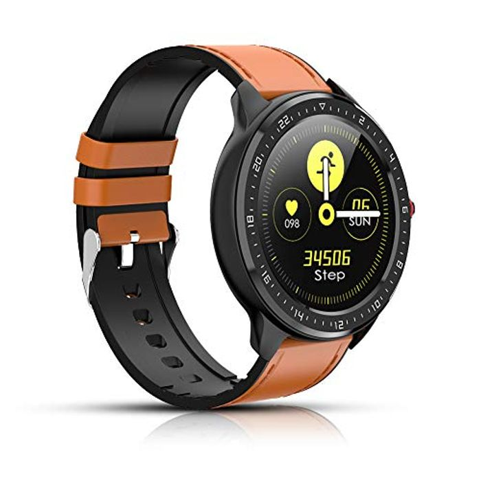Smart Fitness Tracker Watch with Heart Rate Monitor - Only £11.91!