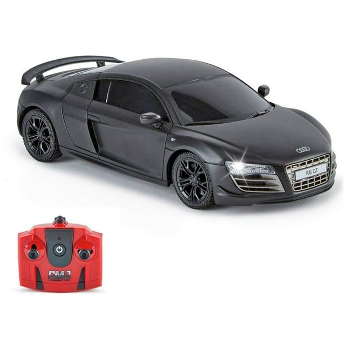 Audi R8 1:24 Radio Controlled Sports Car - Matte Black
