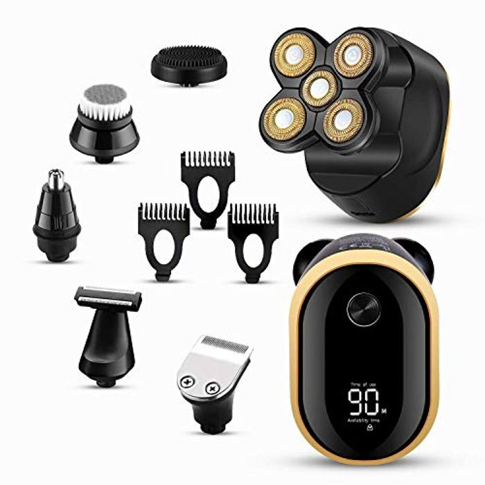DEAL STACK - Electric Razor for Men 6 In1 Bald Head Shaver + 20% Coupon