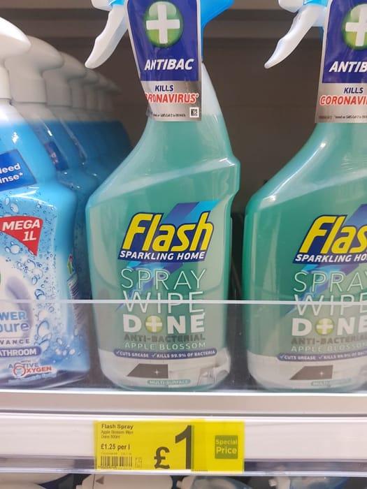 Flash Antibacterial Spray Multi Purpose Cleaner Apple  800ml