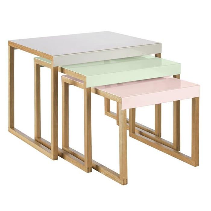 Habitat Kilo Metal Nest of 3 Tables - Multicoloured