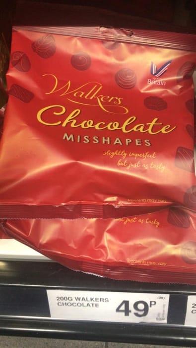 Walkers Chocolate Misshapes - 200g Bag