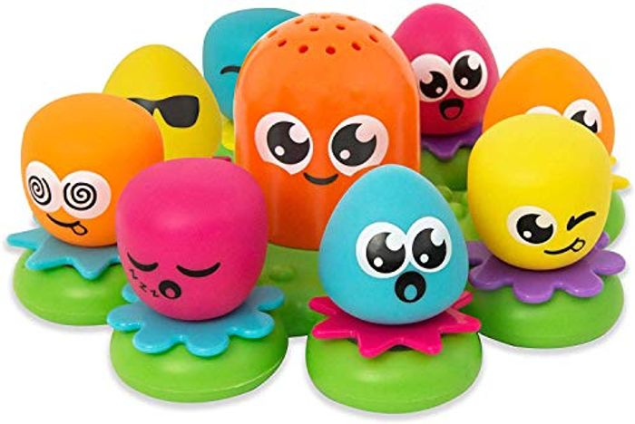 TOMY Toomies Octopals Number Sorting Baby Bath Toy Min Order 2