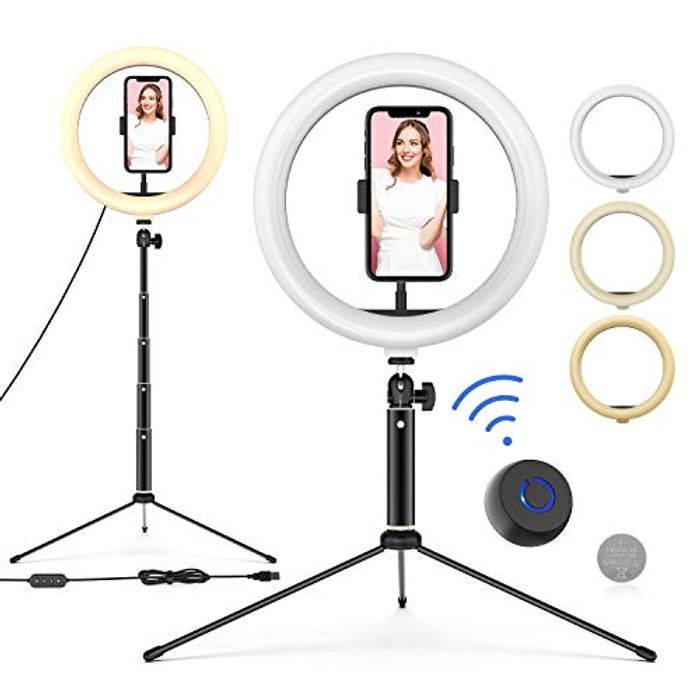 10'' LED Ring Light with Adjustable Tripod Stand & Phone Holder