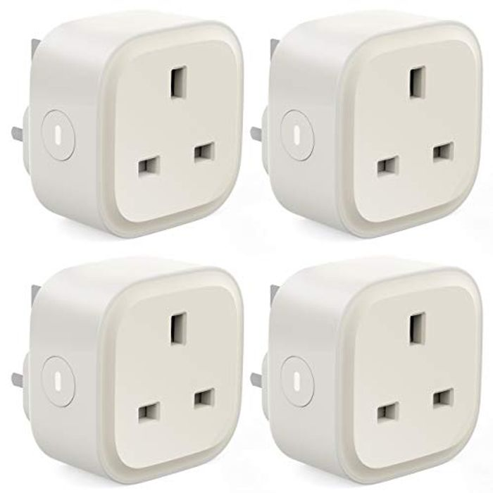 13A Smart WiFi Plugs (Works with Alexa), 4 Pack
