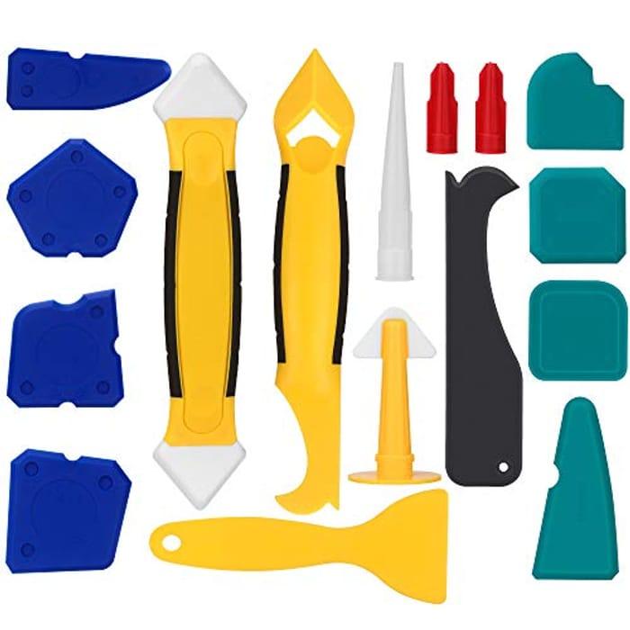 16 Pcs Caulking Tool Kit