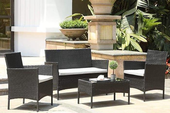 *SAVE over £194* 4-Seater Rattan Garden Furniture Set