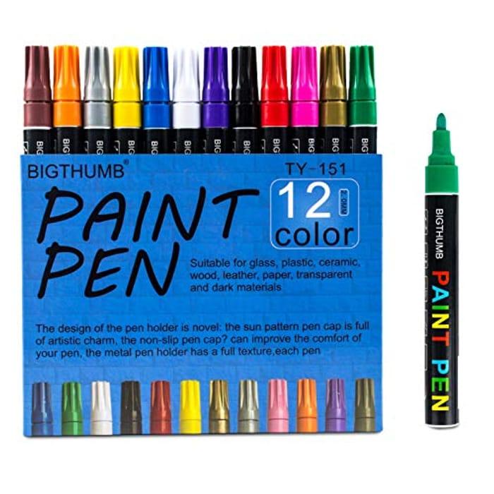 12 Pack Acrylic Paint Pens