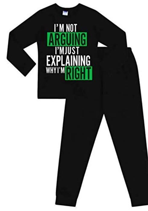 I'm Not Arguing I'm Just Explaining Why I'm Right Cotton Kids Long Pyjamas