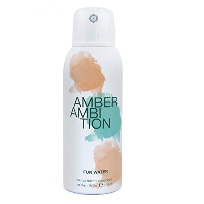 Amber Ambition Body Spray Deodorant Aerosol for Men - 150 Ml