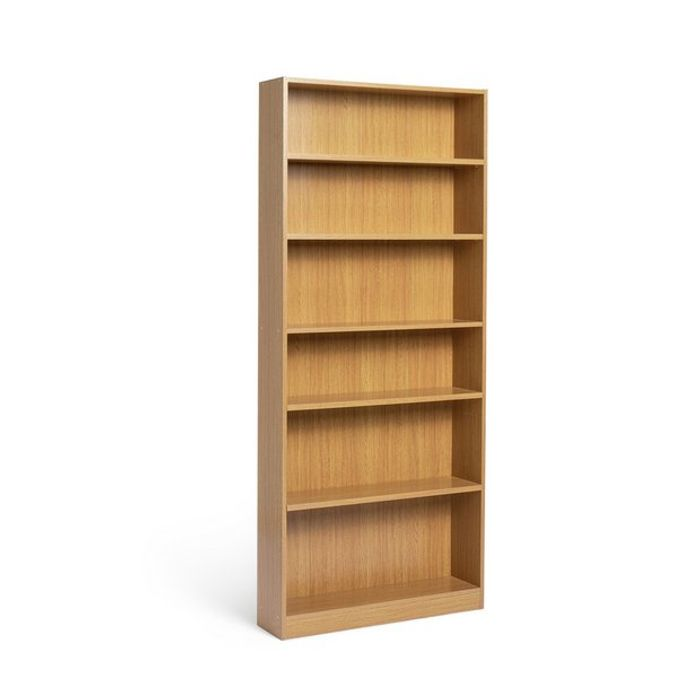Habitat Maine 5 Shelf Tall Wide Bookcase - Oak Effect