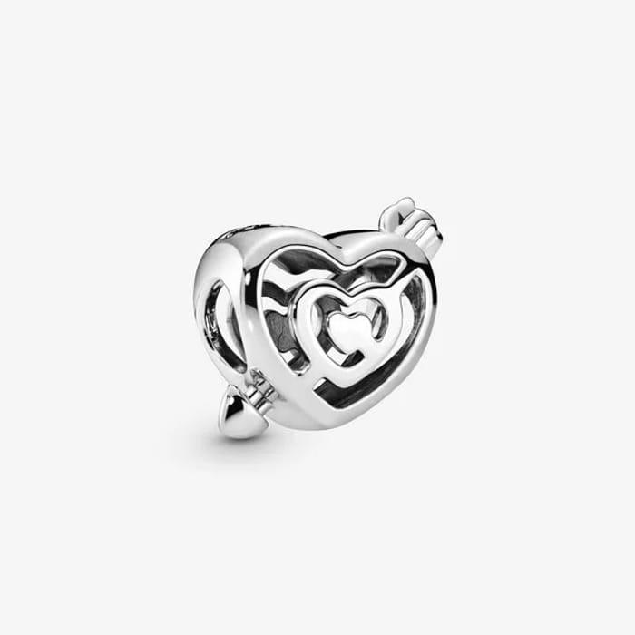 Best Price! Openwork Heart Labyrinth & Arrow Charm