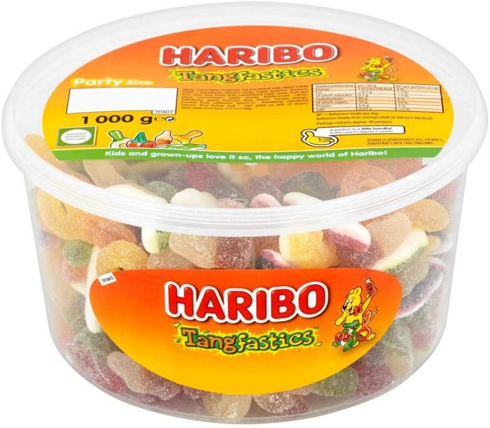 Cheap Haribo Tangfastics 1kg Sweets Party Tub (£4.15 S&S) - Only £4.37!