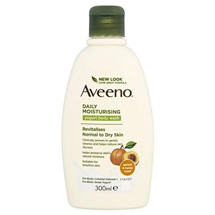 Aveeno Daily Moisturising Yogurt Body Wash, Apricot and Honey Scented, 300 Ml