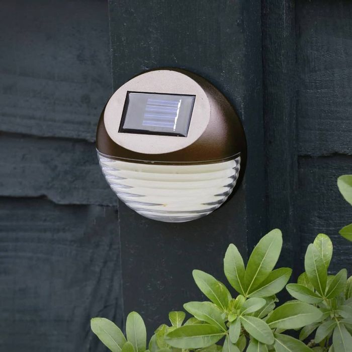 Special Offer! 3 X Solar Powered Fence Lights - Bronze or Silver