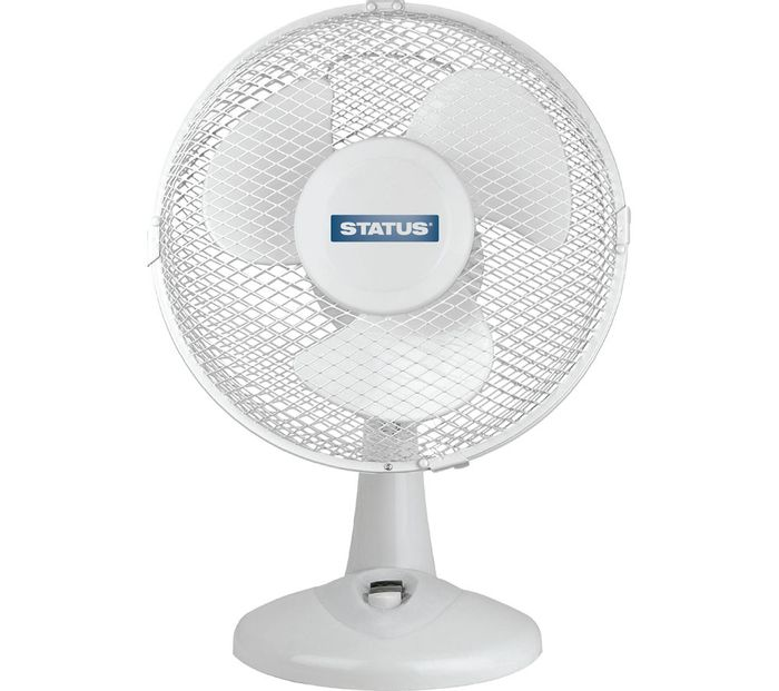"""*SAVE £10* STATUS 9"""" Desk Fan - White"""
