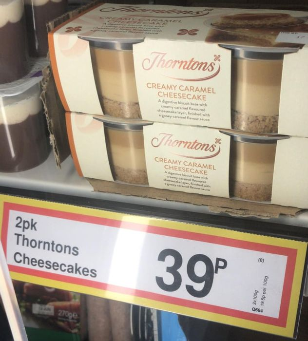 Thorntons Creamy Caramel Cheesecakes